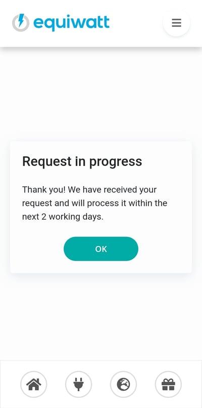 Referral Scheme - Request in Progress